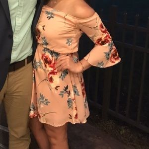 Windsor•Pink Floral Dress•Off shoulder